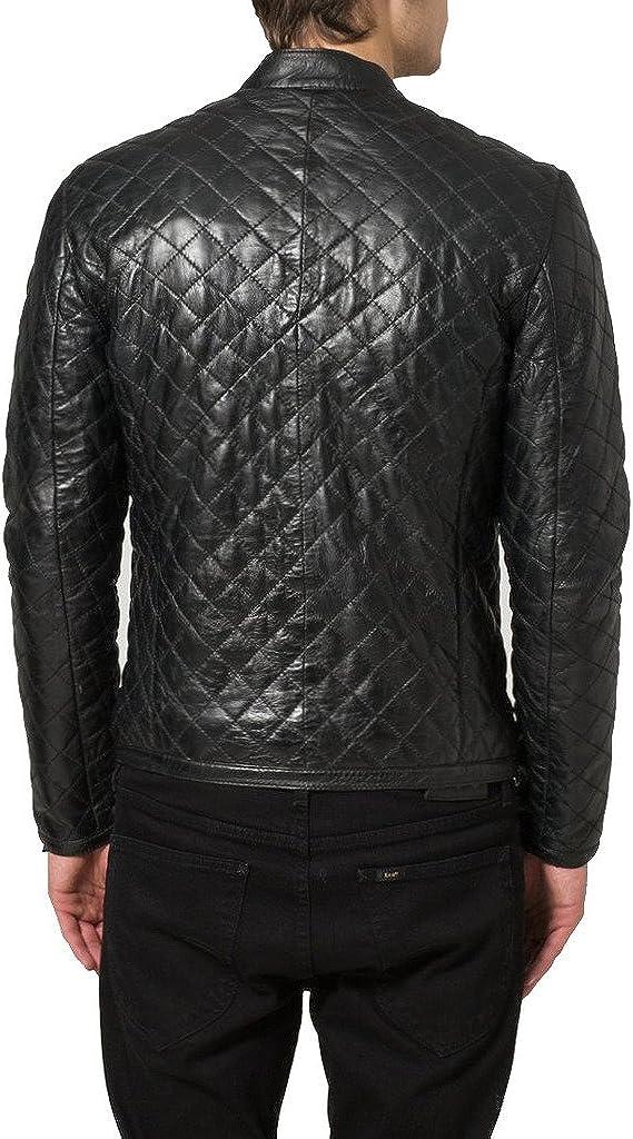 New Mens Leather Slim Fit Genuine Lambskin Biker Jackets LF157