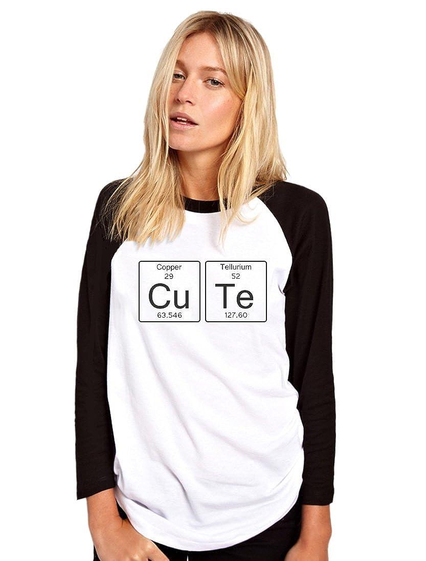 Cute Cu Te Copper Tellurium Periodic Table Womens Baseball Top