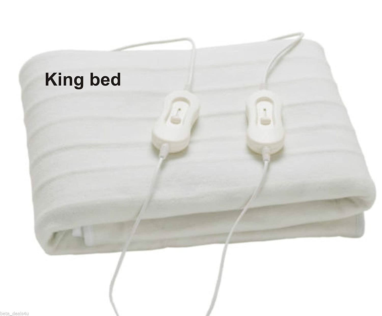 Electric Single / Double / King Size Washable Heated Fleece Under Blanket (Single:120x60cm) Elite