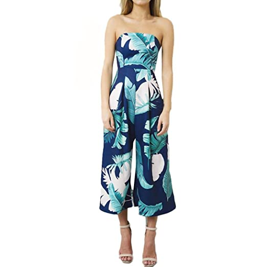 37c39a2ce45d Amazon.com  Jushye Hot Sale!!! Women s Floral Jumpsuit