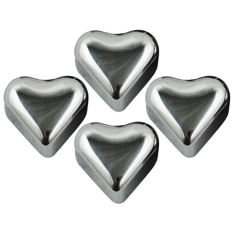 Set of 20 Silver SH 20 S20 Southern Homewares Heart Shape ...