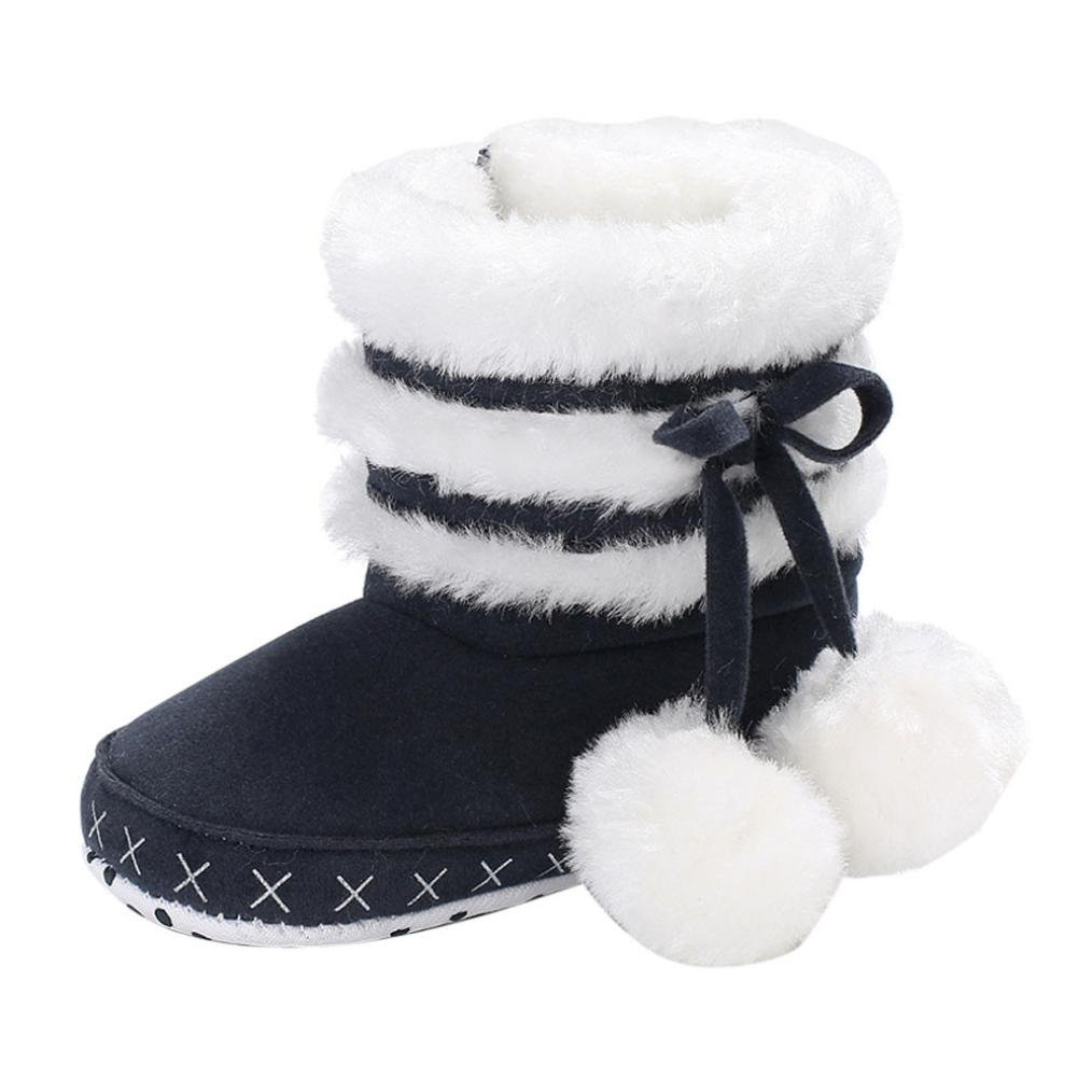Witspace Baby Girl Soft Booties Snow Boots Infant Toddler Newborn Warming Shoes