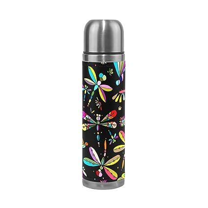 Amazon.com: ALAZA libélulas Botella de agua de aspiradora de ...