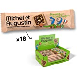 Michel et Augustin Chocolate French Cookie Squares 18 Bars | Toasted Hazelnut Butter Shortbread | Gourmet Snack Dessert Gift Baskets For Holiday Christmas Valentines | 4 Cookie Squares Per Bar