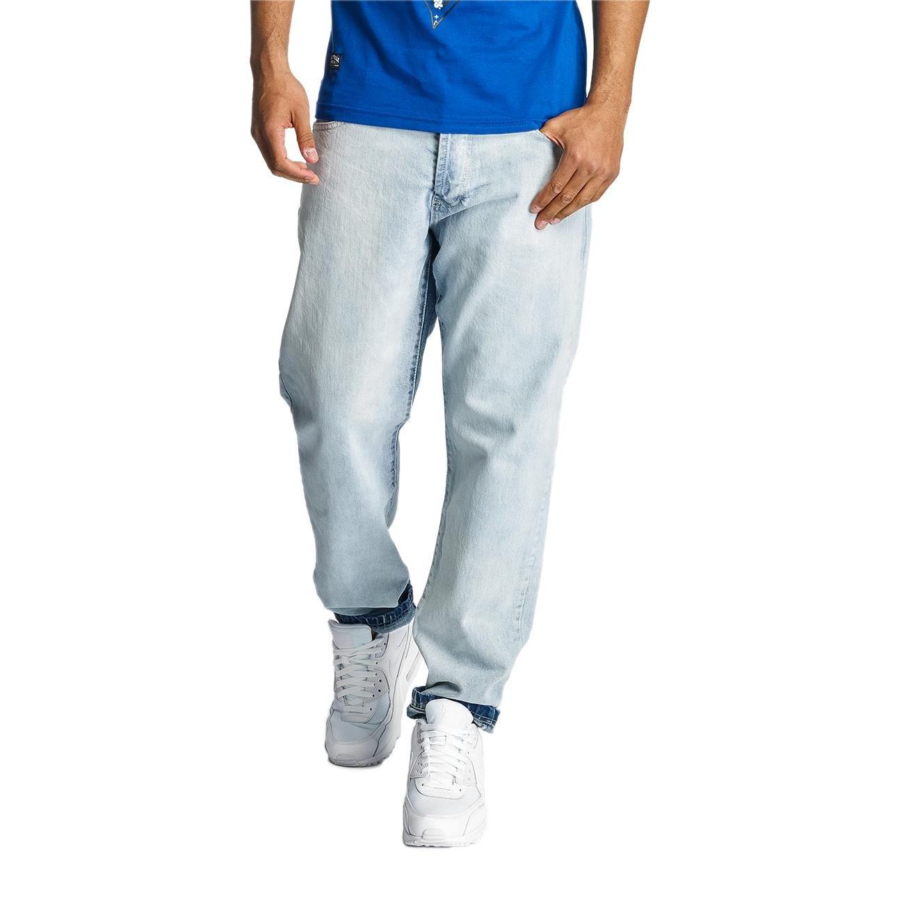 Thug Life Männer Sport-Karottenjeans Washed in blau