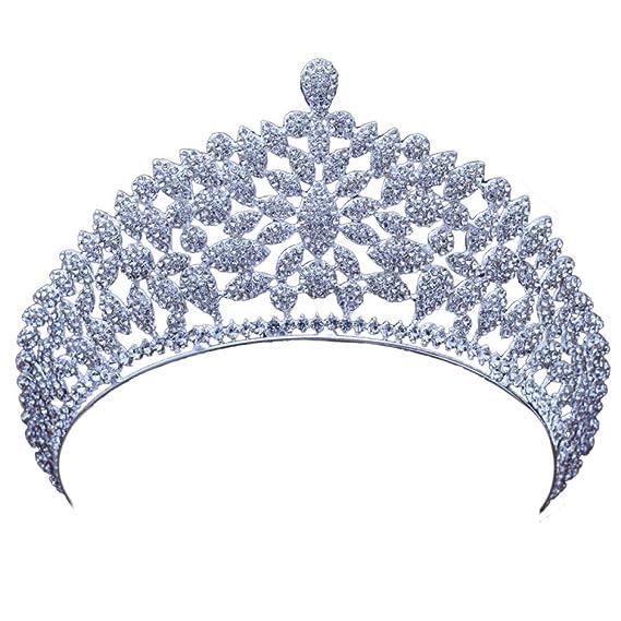 CPHGG Coronas de Princesas Tiara Nupcial Rhinestone Corona ...