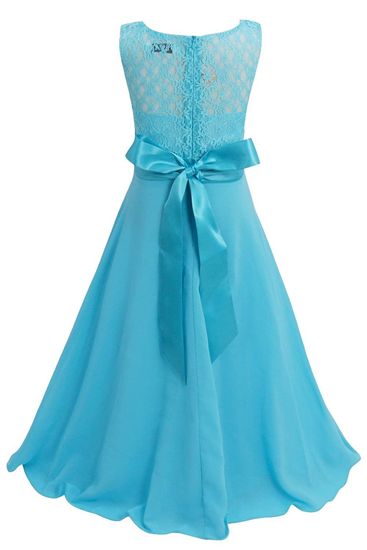 Amazon.com: YiZYiF Kids Big Girls Lace Maxi Long Pageant Wedding ...