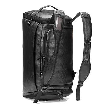 Amazon.com: Bolsa de viaje de gran capacidad de piel ...