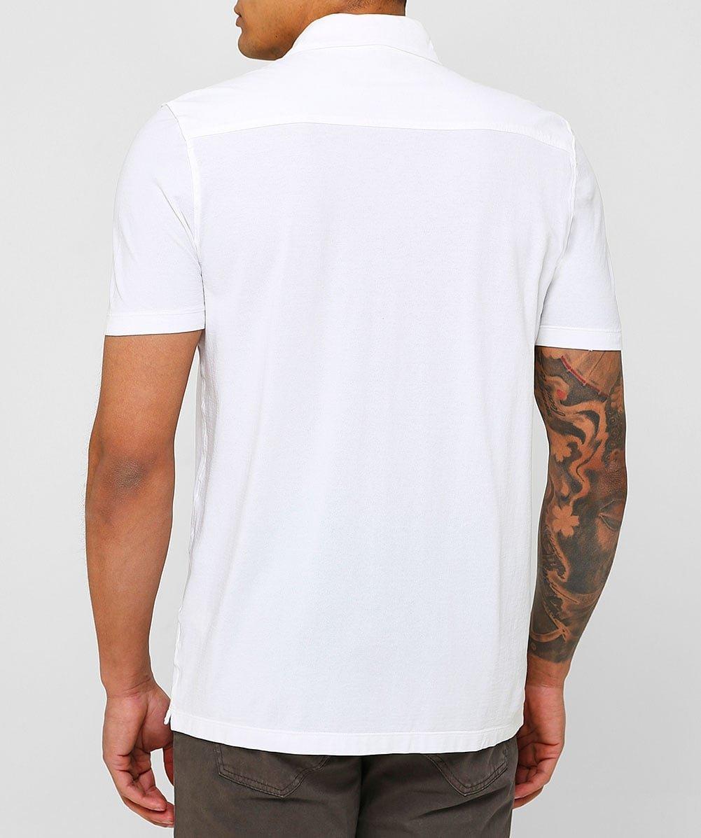 Altea Men's Superfine Crêpe Short Sleeve Baker Shirt White M by Altea (Image #3)