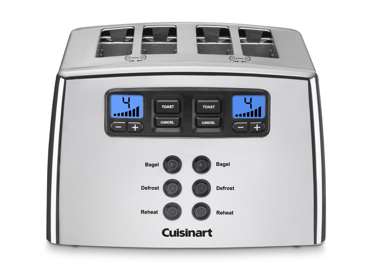 Cuisinart CPT-440CH Touch to Toast Leverless 4-Slice Toaster, Polished Chrome