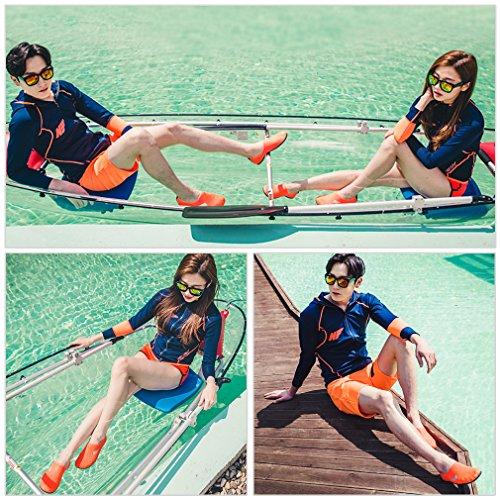 Justonestyle Scarpe Da Acqua Flessibili A Piedi Nudi Calze Aqua Con Suola Per Beach Swim Surf Sport Tempo Libero Per Il Tempo Libero Arancione