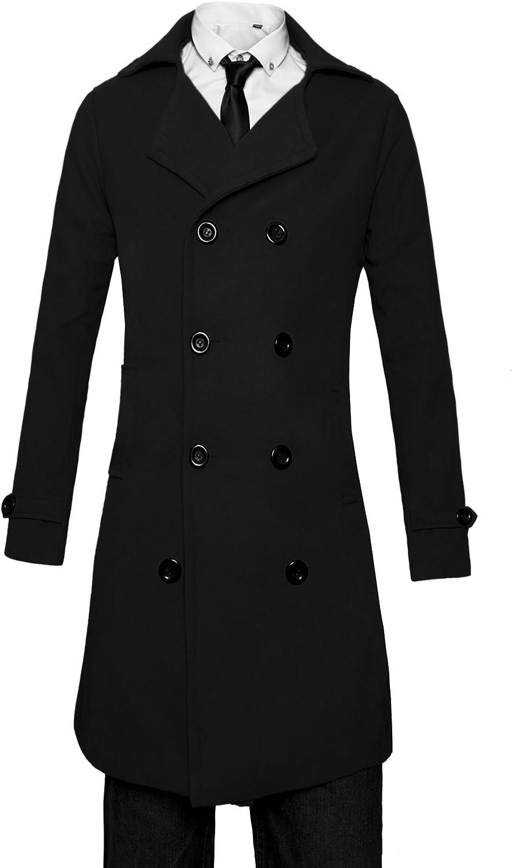 Mens Trench Jacket Long Beige Wool Coat Winter Long Blazer Elegant New Year Coat For Men Arrival Peak Lapel Trench Long Coat