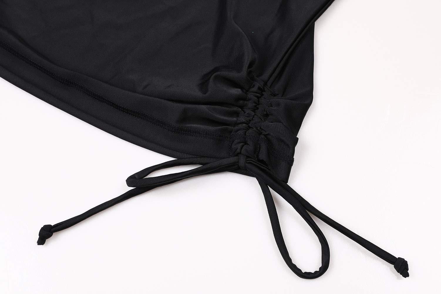 ALove Woman Long Sleeve Swim Shirt Quick Dry Rashguard Swim Top Black M by ALove (Image #5)