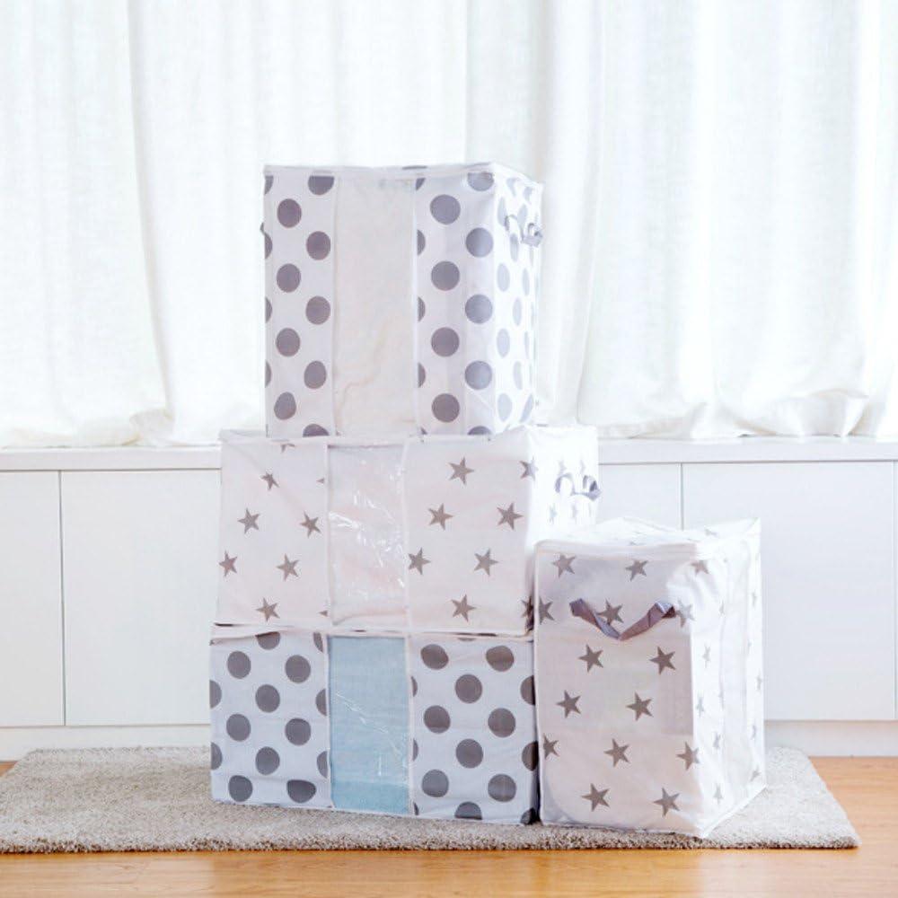 A MORECON Foldable Storage Bag Clothes Blanket Quilt Closet Sweater Organizer Box Pouches