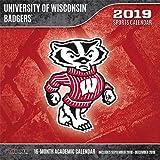 Wisconsin Badgers 2019 12x12 Team Wall Calendar
