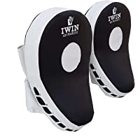 IWIN BLACKFOCUSPAD PU Boxing and Karate Curved Focus Pads (Black)