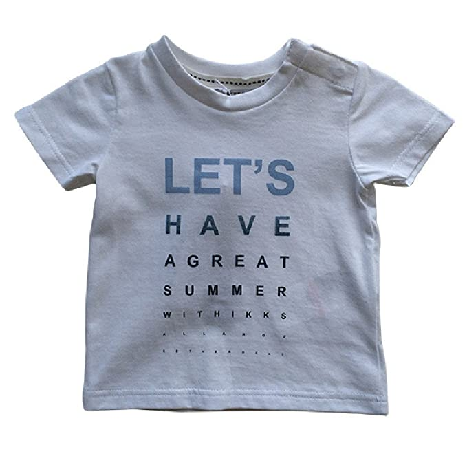 3c436745e IKKS Baby Boys Let's Have A Great Summer Tee Shirt White (18M): Amazon.ca:  Clothing & Accessories