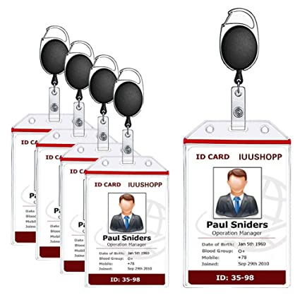 amazon com badge holder luushopp vertical heavy duty id badge