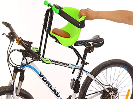 Seggiolino Anteriore Bici Attacco Manubrio Bianco Protezione HTP MILU Rosso