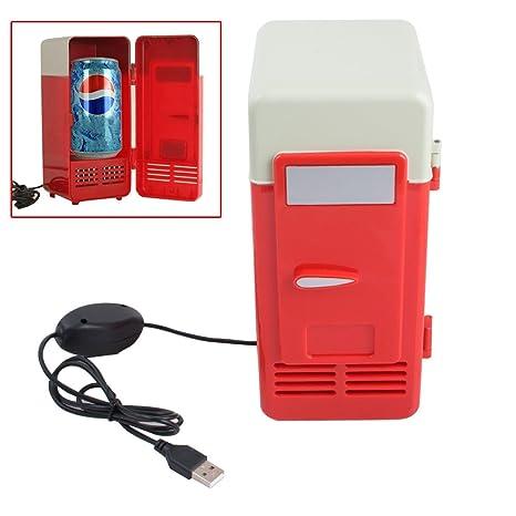 FINLON Mini USB refrigerador enfriador calentador de bebidas latas ...
