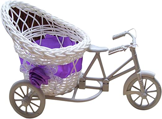 VOSAREA Mini Cesta de Flores en Forma de Bicicleta Cesta de Flor ...