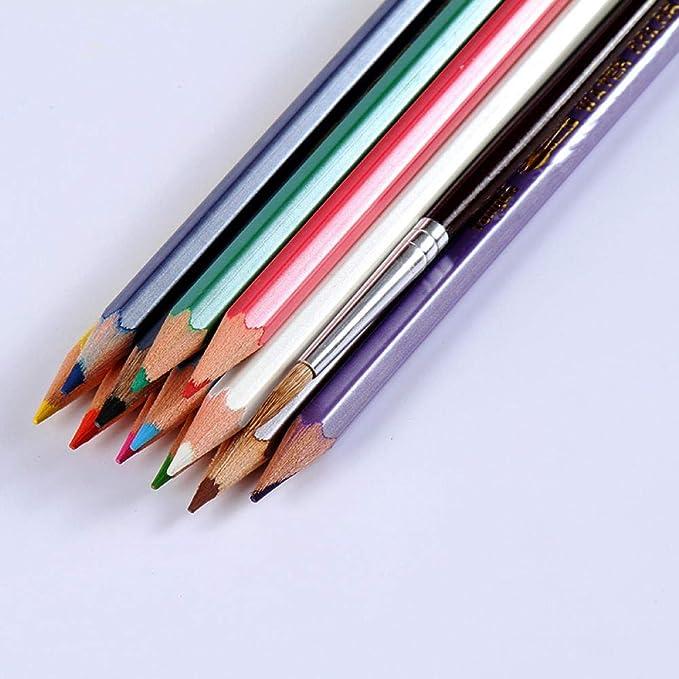 Caja de lápices de colores a granel Sacapuntas de color soluble en agua-HB_Color mezclando crayones locos gigantes: Amazon.es: Oficina y papelería