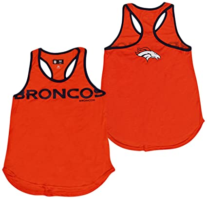 G-III 4her by Carl Banks Denver Broncos Women s Orange Game Time Racerback  Tank Top dbe8a52f0