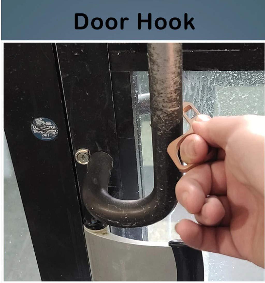 4PCS Elevator Press Stick Zero Touch Reusable Handle Tools for Push The Elevator Button Open Door The Contactless Button Tool Easy to Carry Basde Hygienic Door Handle Door Opener