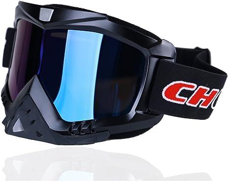 Madbike Occhiali Motocross per motocicletta Sport allaria Aperta Dirt Bike ATV MX Occhiali sportivi fuori Strada Blue