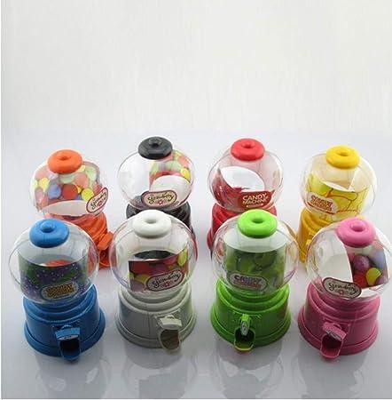 Oulensy 1x Candy Box Ritorto Candy Machine Piggy Bank Piccoli Dolci Dispenser contenitori di Soldi per Bambini Dolci Regali manuali Bottiglia Rosa