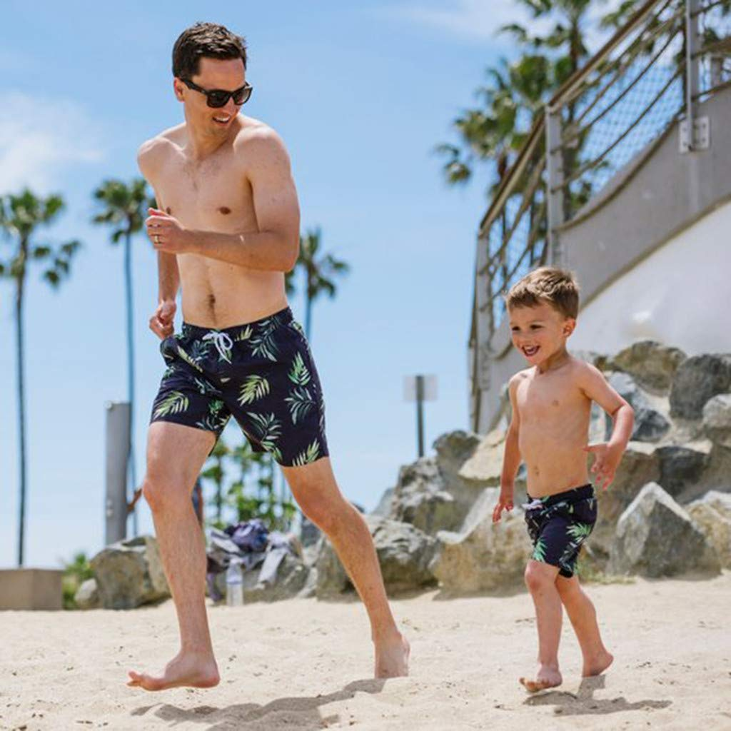 NUWFOR Men Daddy Swimwear Running Surfing Sports Beach Shorts Trunks Board Pants(Blue-Dad,US:M Waist31.5-33.9'') by NUWFOR (Image #4)