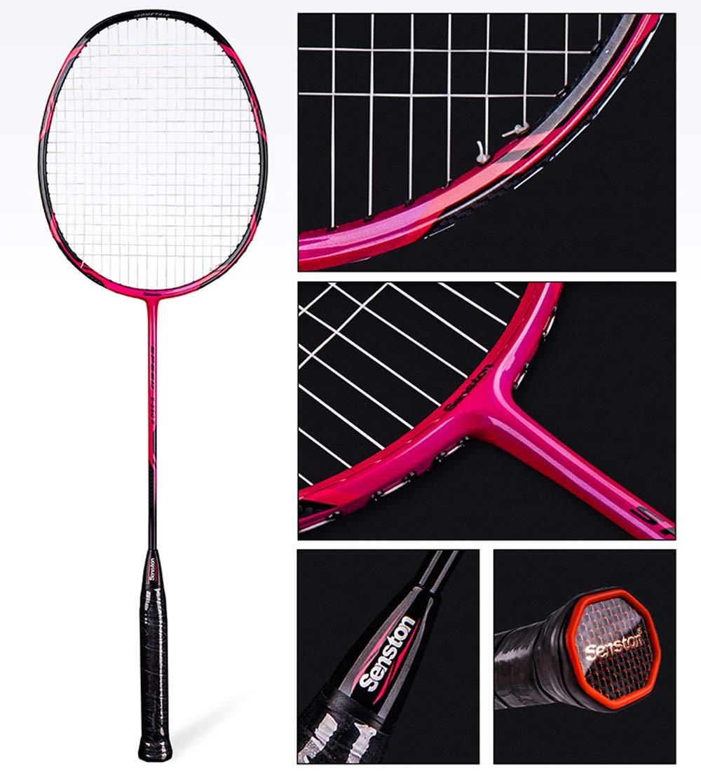 Senston - High Grade 2 Player Graphite Badminton Racket Set - Including 1 Badminton Bag/2 Rackets/2 Grip(red+Yellow) by Senston (Image #3)