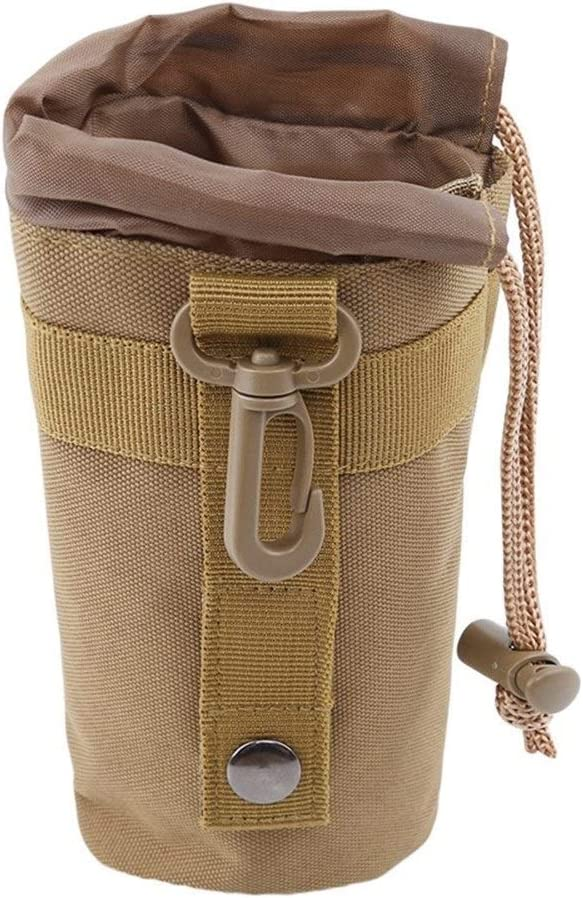 LSBXWL Nylon Outdoor Fishing Special Kettle Bag Tactical Water Bottle Bags Outdoor Sports Water Cup Set Taza Color : Brown