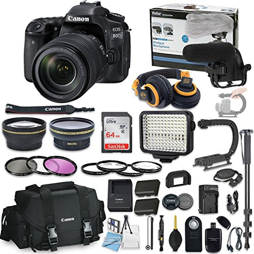 Canon EOS 80D DSLR Camera Bundle with Canon EF-S 18-135mm f/
