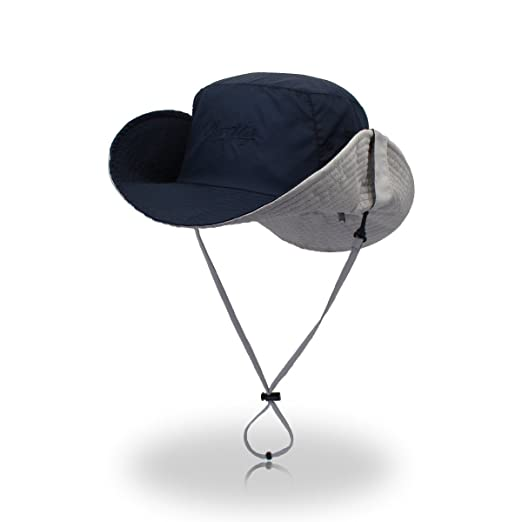 22188cd9e88 Image Unavailable. Image not available for. Color  Qhome Unisex Outdoor  Lightweight Breathable Waterproof Bucket Wide Brim Hat - UPF 50+ Sun  Protection