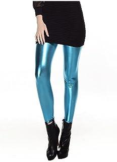 LooBoo Leggins Sexy Skinny Elásticos Pantalones Brillante Elegante Pantalones  Mujer Largos Leggings De… ab2d68894214