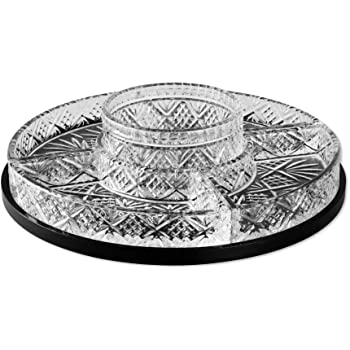 Amazon Com Godinger Dublin Crystal Lazy Susan Relish