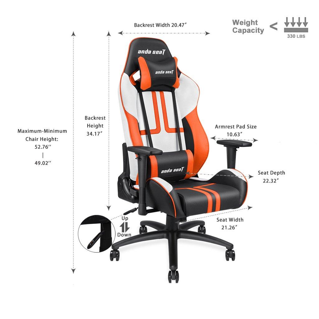 andaseat ergonómico giratorio de espalda alta sillón reclinable silla de oficina juegos de carreras de silla mecedora inclinación e-sports silla con ...