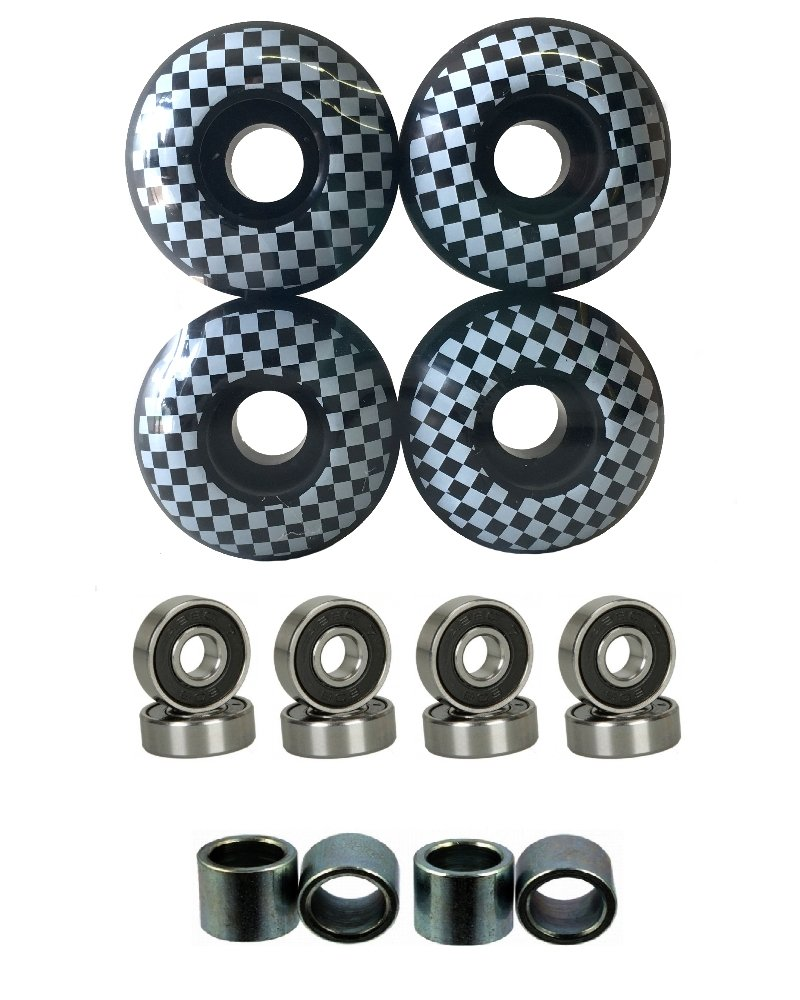 Everland 52mm Wheels Set (Black Checker) by Everland