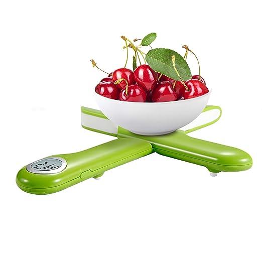 Camry Báscula Digital de Cocina Plegable, Mini Balanza para Alimentos, Escala para Pesar Comida, Peso de Cocina con Pantalla LCD, hasta 5Kg de Peso, ...
