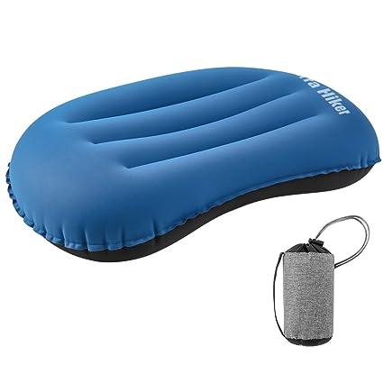 Almohada Inflable para Acampar, Terra Hiker Almohada Expandible, Soporte Lumbar Ultra Liviano, Compacto