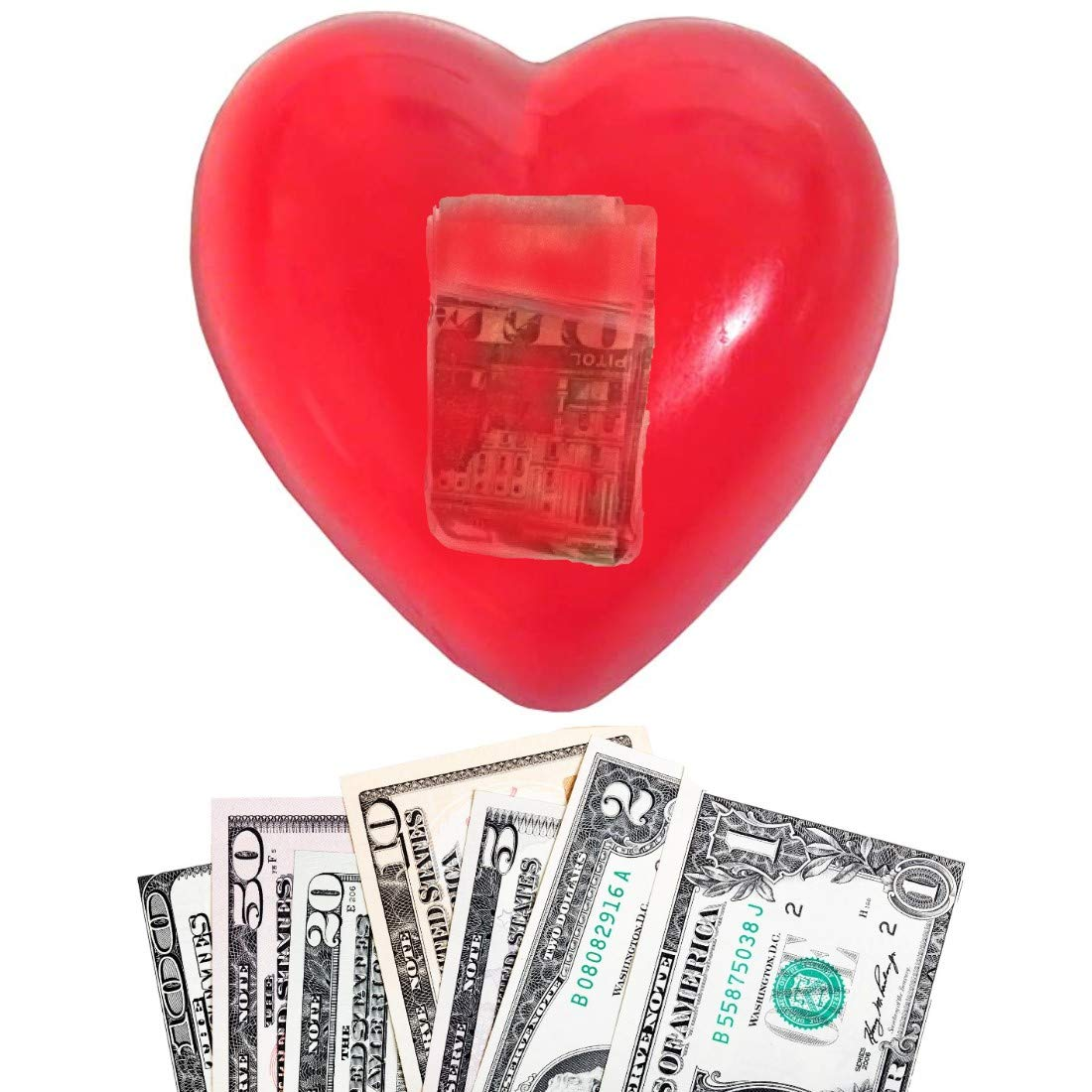 Happy Valentines Day Red Heart Shaped Money Love Soap