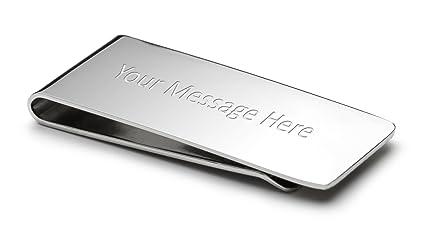 Engrave It Online Sujetador de billetes personalizado con caja lujosa (grabado gratuito sin límite de