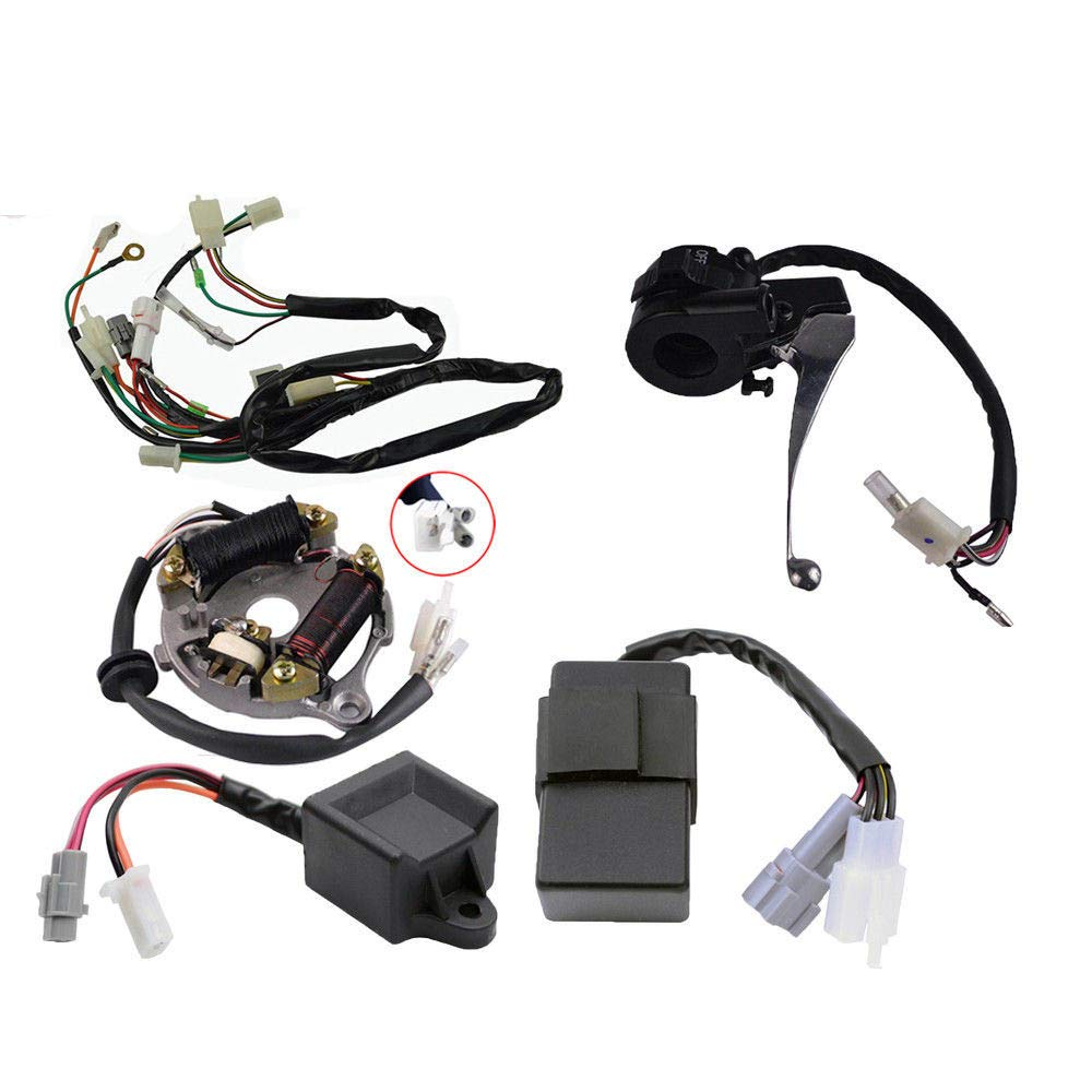 Wiring harness Ignition Switch CDI Unit Magneto Stator fit For Yamaha PW50 PW PY 50 PY50 PEEWEE Motorcycle Dirt Pit Kid Bike ATV Accessories
