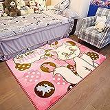 "RuiHome Baby Toddler Nursery Rug Children Crawling Play Mat for Bedroom Living Room Playroom Hardwood Floor - 51'' x 73"", Cute Cat"