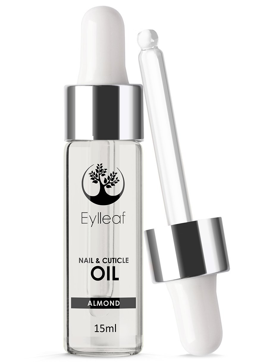 Eylleaf Nail and Cuticle Almond Oil Vitamin E 15ml - Cuticle Conditioner for Natural or Gel Nails (Almond)