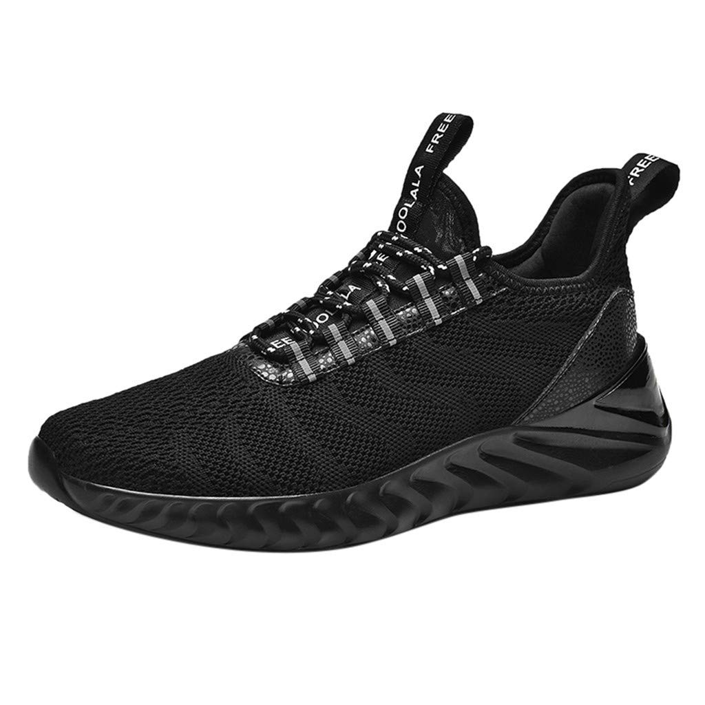 refulgence Mens Comfortable Sneakers Lightweight Walking Shoes Casual Running Shoes for Men (Black,US:8) by refulgence