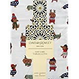 Cynthia Rowley Easy Care Holiday Sweater Dogs Tablecloth, 60-by-84 Inch Oblong Rectangular