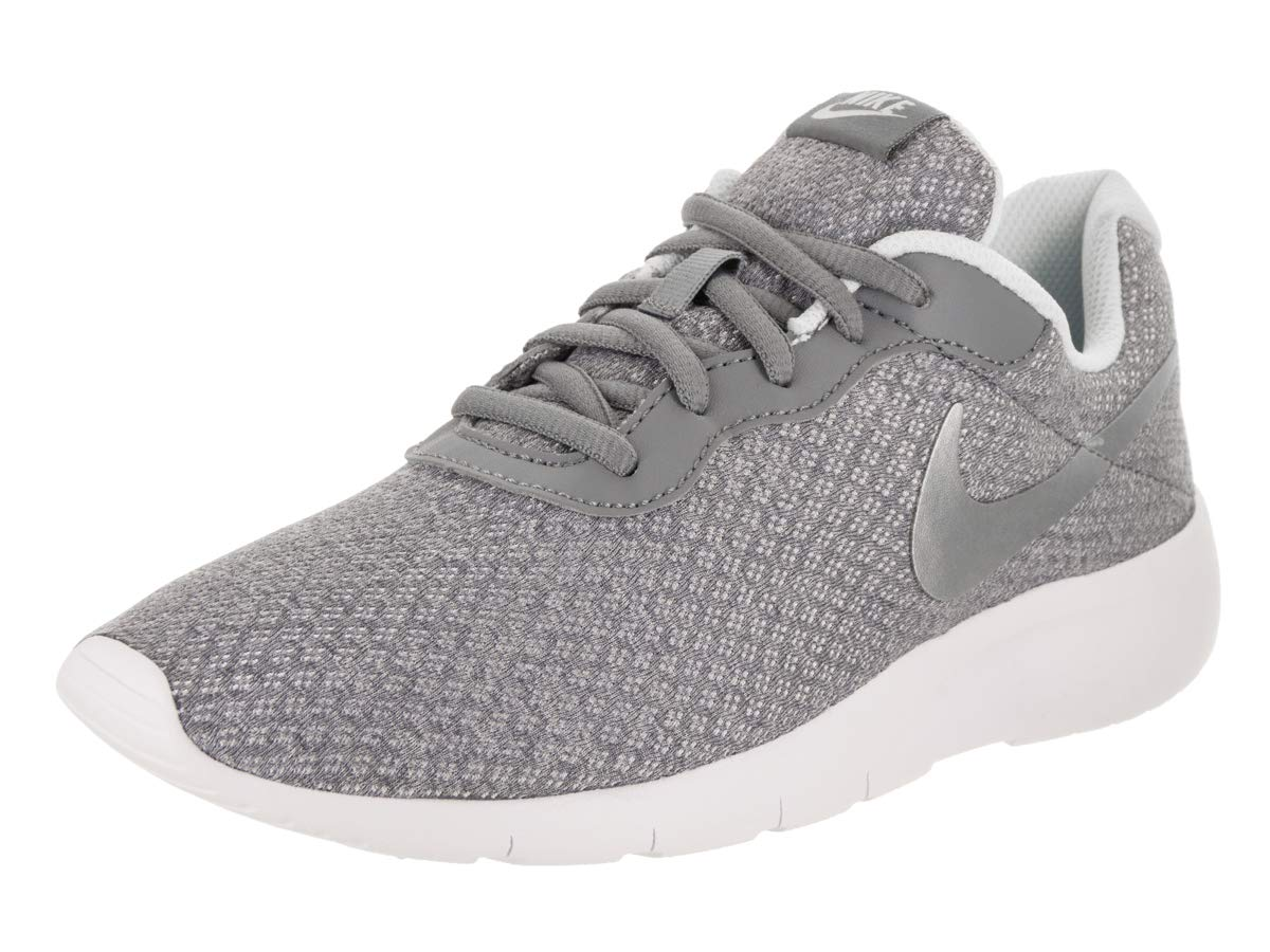 Nike Girl's Tanjun (GS) Running Shoes (6.5 M US Big Kid, Cool Grey/Metallic Silver)