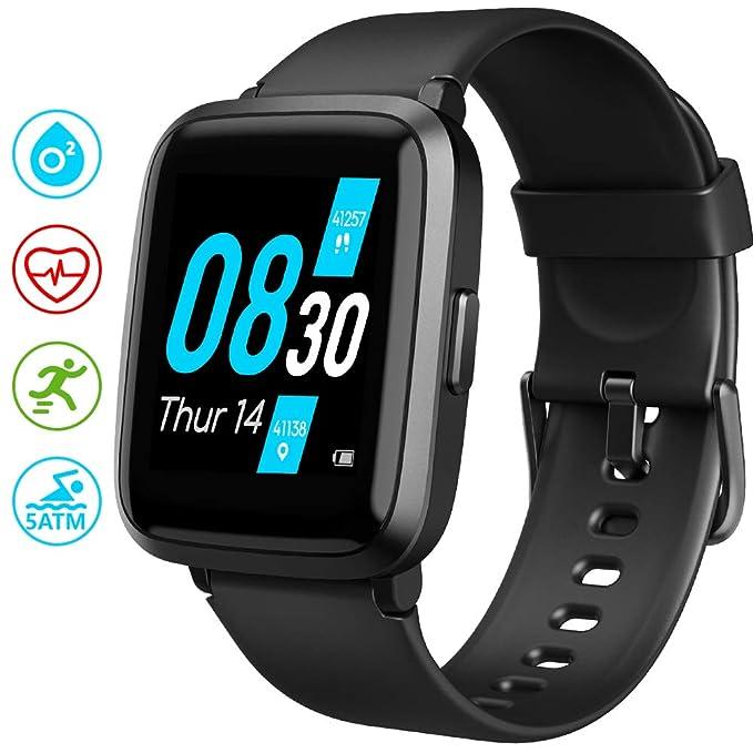 UMIDIGI UFit Smartwatch, Reloj Inteligente Oxigeno con (SpO2) y Monitoreo Frecuencia Cardíaca para Hombre Mujer Rastreador de Actividad de Monitoreo de Salud, de Compatible con Android y iOS